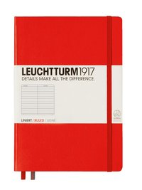 Anteckningsbok Leuchtturm A5 linjerad röd