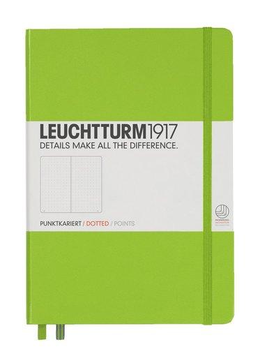 """Anteckningsbok """"Bullet Journal"""" Leuchtturm A5 prickad limegrön"""