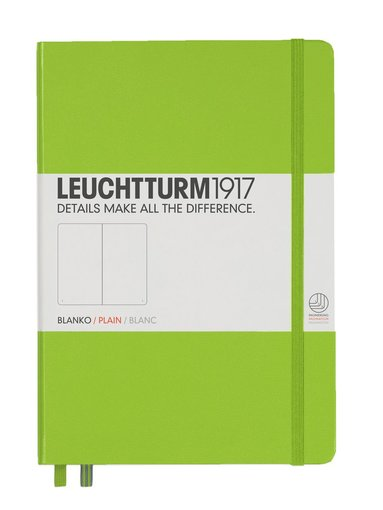 Anteckningsbok Leuchtturm A5 olinjerad limegrön