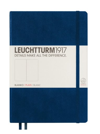 Anteckningsbok A5 Leuchtturm1917 olinjerad mörkblå