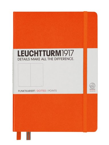 "Anteckningsbok ""Bullet Journal"" Leuchtturm A5 prickad orange"