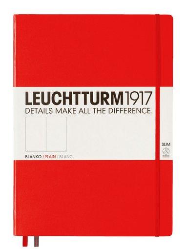 Anteckningsbok Leuchtturm1917 A4+ Slim olinjerad röd