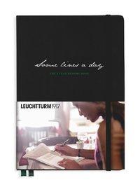 """5-årsdagbok Leuchtturm1917 A5 """"Some lines a day"""" svart"""