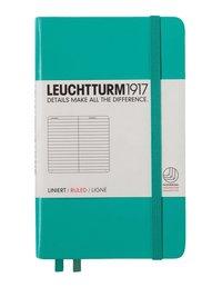 Anteckningsbok A6 Leuchtturm1917 linjerad smaragdgrön