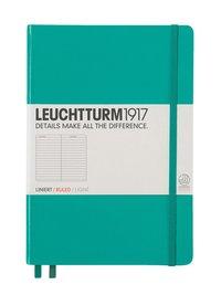 Anteckningsbok Leuchtturm A5 linjerad smaragdgrön