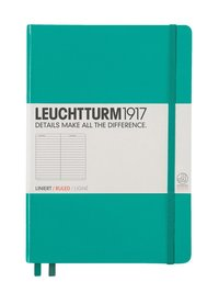 Anteckningsbok Leuchtturm1917 A5 linjerad smaragdgrön