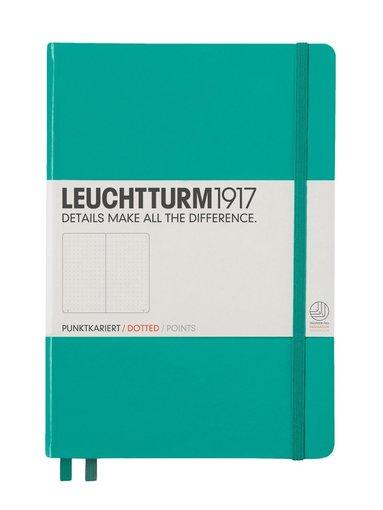 "Anteckningsbok ""Bullet Journal"" Leuchtturm A5 prickad smaragdgrön"