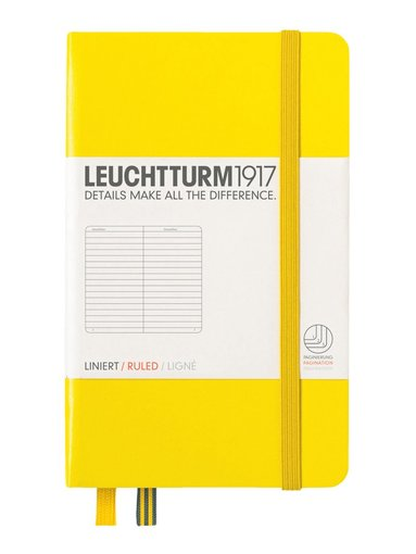 Anteckningsbok A6 Leuchtturm1917 linjerad gul 1