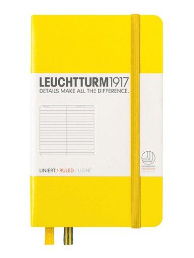 Anteckningsbok Leuchtturm A6 linjerad gul