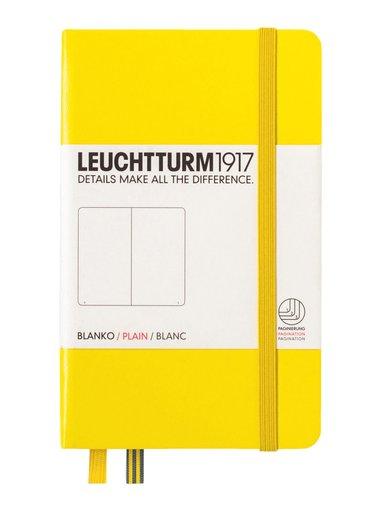 Anteckningsbok Leuchtturm A6 olinjerad gul