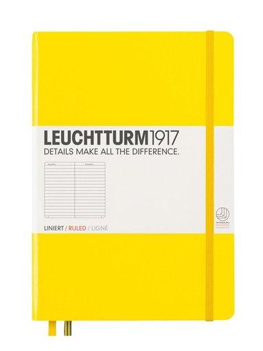 Anteckningsbok Leuchtturm A5 linjerad gul