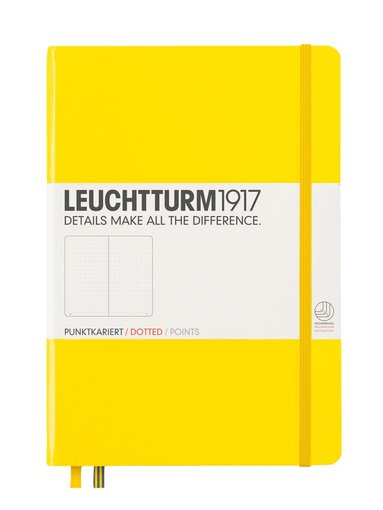 """Anteckningsbok Leuchtturm1917 """"Bullet Journal"""" A5 prickad gul"""