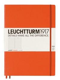 Anteckningsbok Leuchtturm1917 A4+ Slim linjerad orange