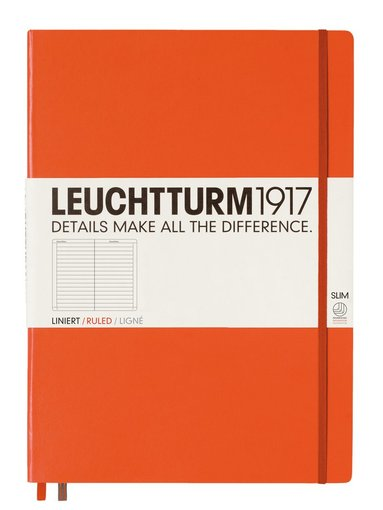 Anteckningsbok Leuchtturm A4+ Slim linjerad orange