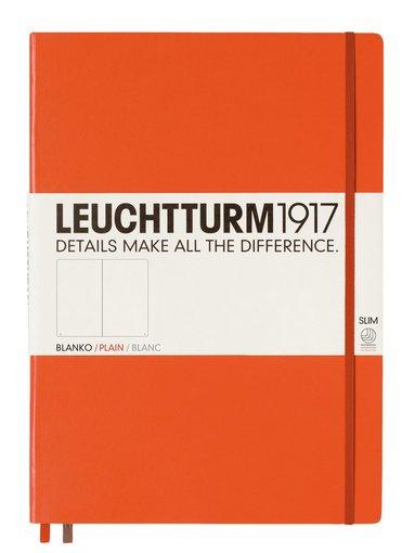 Anteckningsbok Leuchtturm1917 A4+ Slim olinjerad orange