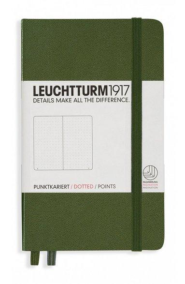 Anteckningsbok Leuchtturm1917 A6 prickad militärgrön
