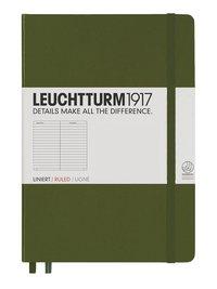 Anteckningsbok Leuchtturm1917 A5 linjerad militärgrön