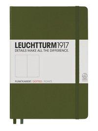 """Anteckningsbok Leuchtturm1917 """"Bullet Journal"""" A5 prickad militärgrön"""