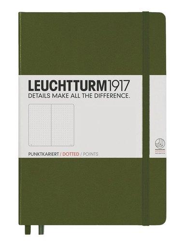 """Anteckningsbok """"Bullet Journal"""" Leuchtturm A5 prickad militärgrön"""