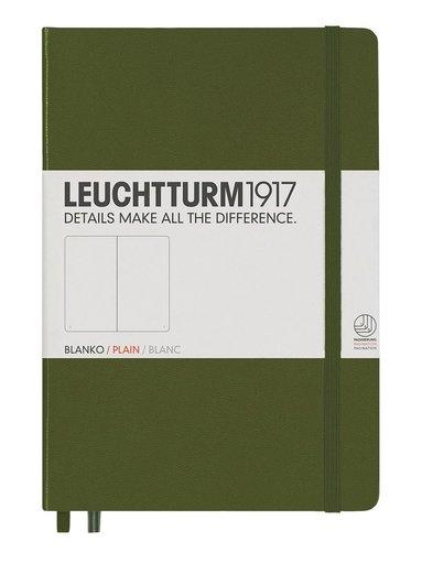 Anteckningsbok Leuchtturm1917 A5 olinjerad militärgrön