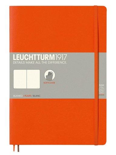 Anteckningsbok Leuchtturm B5 olinjerad mjuk orange