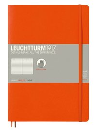 Anteckningsbok Leuchtturm1917 B5 linjerad mjuk orange
