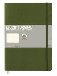 Anteckningsbok Leuchtturm1917 B5 olinjerad mjuk militärgrön