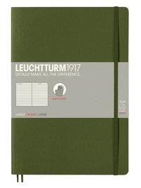 Anteckningsbok Leuchtturm1917 B5 linjerad mjuk militärgrön