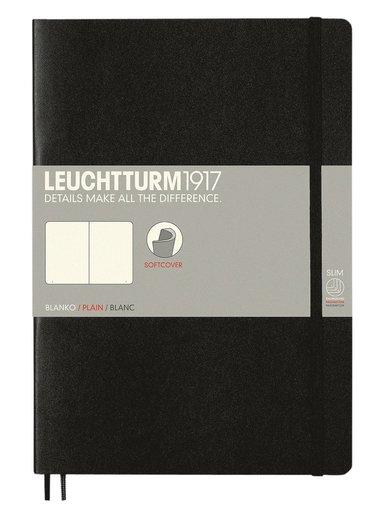 Anteckningsbok Leuchtturm1917 B5 olinjerad mjuk svart