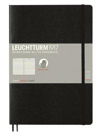 Anteckningsbok B5 Leuchtturm1917 linjerad mjuk svart