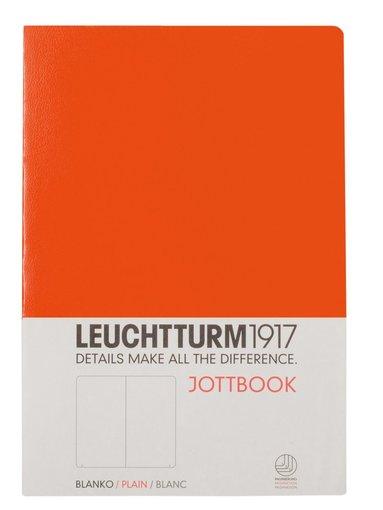 Skrivhäfte Leuchtturm Jottbook A5 olinjerad orange