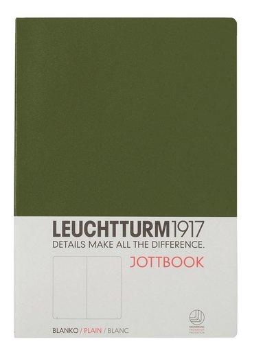 Skrivhäfte Leuchtturm Jottbook A5 olinjerad militärgrön
