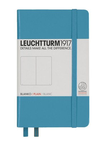Anteckningsbok A6 Leuchtturm1917 olinjerad nordisk blå