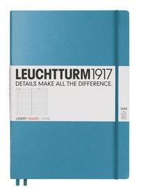 Anteckningsbok Leuchtturm A4+ slim linjerad nordisk blå