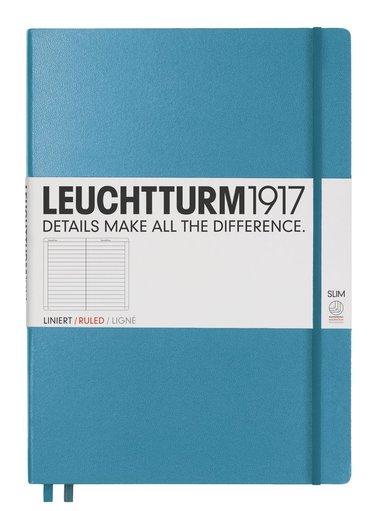 Anteckningsbok Leuchtturm1917 A4+ slim linjerad nordisk blå