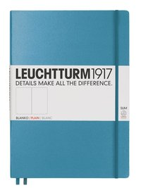 Anteckningsbok Leuchtturm1917 A4+ Slim olinjerad nordisk blå