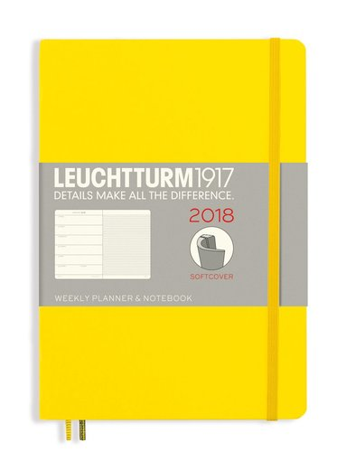 Kalender 2018 Leuchtturm A5 Vecka/Sida note mjuk gul