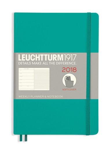 Kalender 2018 Leuchtturm A5 Vecka/Sida note mjuk grön