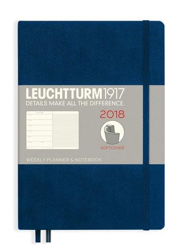 Kalender 2018 Leuchtturm A5 Vecka/Sida note mjuk mörkblå