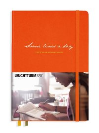 Dagbok 5-års Leuchtturm1917 A5 Some lines a day orange