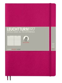 Anteckningsbok Leuchtturm1917 B5 linjerad mjuk pärm cerise
