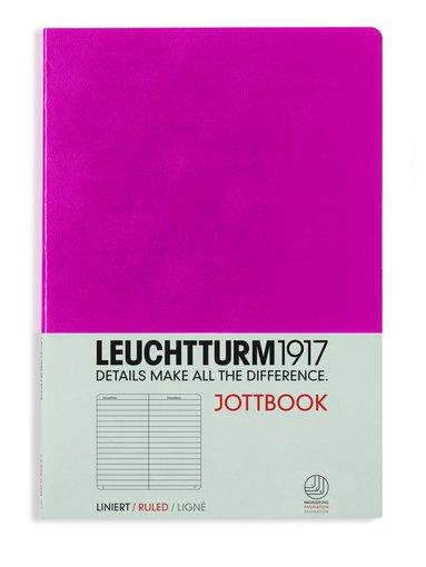 Skrivhäfte Leuchtturm Jottbook A5 linjerad cerise