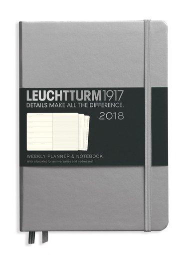 Kalender 2018 Leuchtturm A5 Vecka/Sida note silver