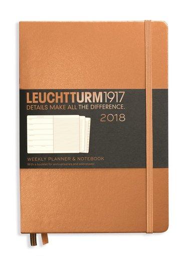 Kalender 2018 Leuchtturm A5 Vecka/Sida note koppar