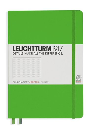 Anteckningsbok Leuchtturm1917 A5 prickad grön