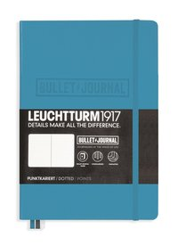 "Anteckningsbok Leuchtturm1917 ""Bullet Journal"" A5 nordisk blå"