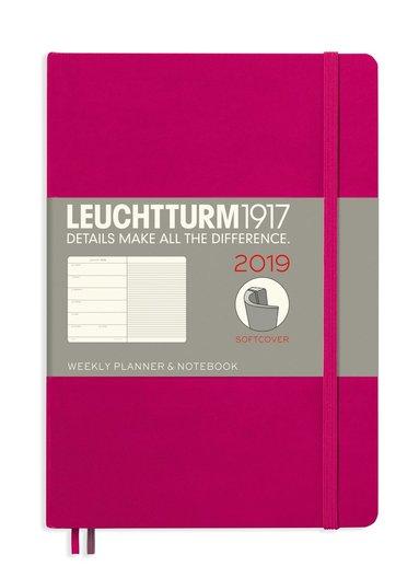 Kalender 2019 Leuchtturm A5 Vecka/Sida notes mjuk magenta