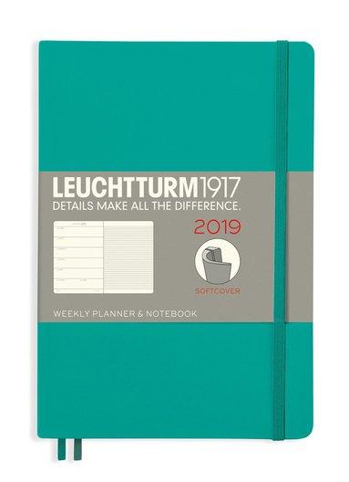 Kalender 2019 Leuchtturm A5 Vecka/Sida notes mjuk grön
