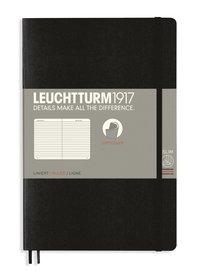 Anteckningsbok B6 Leuchtturm1917 linjerad mjuk pärm svart