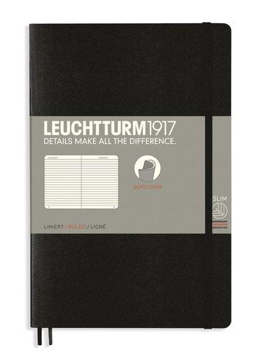 Anteckningsbok B6 Leuchtturm1917 linjerad mjuk pärm svart 1